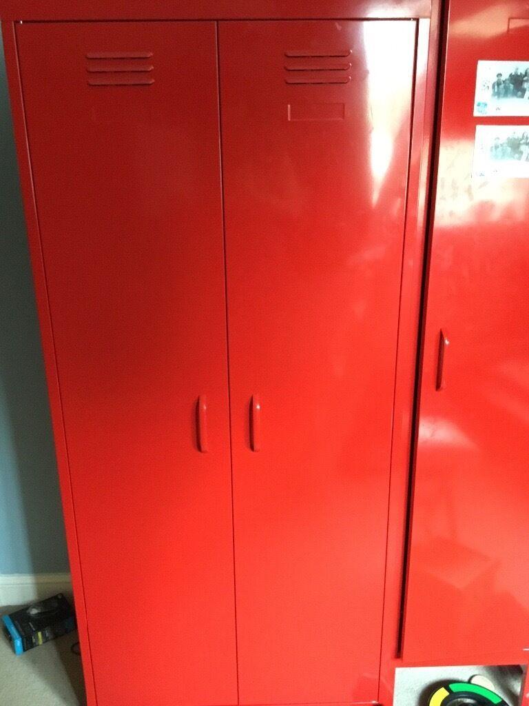 Red Next Locker Style Wardrobe In Thetford Norfolk