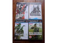 Playstation 2 (PS2) Metal Gear Solid game bundle