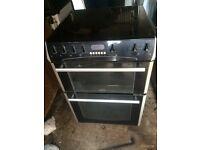 £133.00 Belling black ceramic electic cooker+60cm+3 months warranty for £133.00