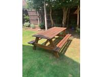 Picnic Table - Handmade with solid wood