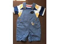 New Baby boys John rocha dungarees and t-shirt 3-6 Months