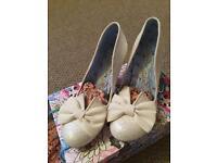 Irregular choice size 8 wedding heels , new in box