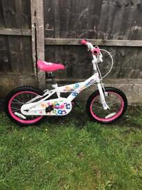 "LITTLE GIRLS BLOSSOM BIKE, 16"" WHEELS, GOOD USED CONDITION"