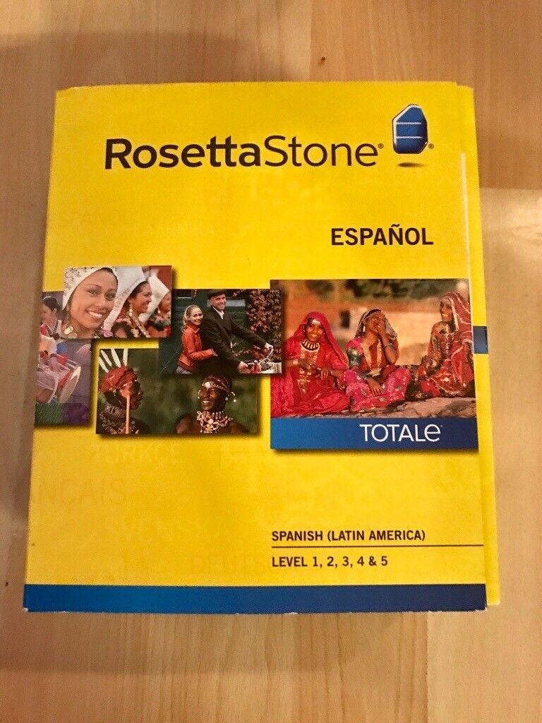 Rosetta Stone Spanish (Latin American) Full Course Levels