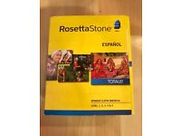 Rosetta Stone Spanish (Latin American) Full Course Levels 1-5 With Audio Companion And Headset CD