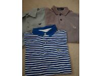 Junior armani, lacoste and fred perry polo shirts