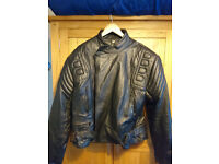 Men's Armoured Leather Motorcycle Motorbike Biker Jacket