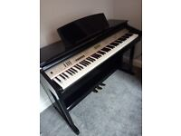 Digital piano gloss black in Portsmouth