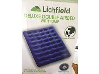 Deluxe Double Airbed with electric pump