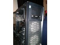 CORSAIR GRAPHITE 760T PC GAMING CASE 3 fans fitted and DVD rewriter