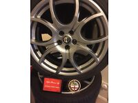 """Limited Edition Ducati Corse 18"""" Alpha Romeo 147 Alloys"""