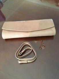 Russell & Bromley Blush patent handbag