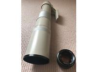 Sigma 100-500mm Lens *RARE* MF 'push pull' one action focus zoom (PK MOUNT)