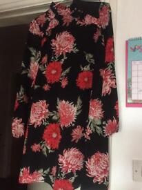 Black and red floral dress