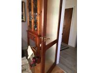 "Interior doors solid hardwood colour mahogany 78""x 30"""