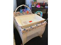 Brand New Deluxe Baby Start Travel Cot With changing section