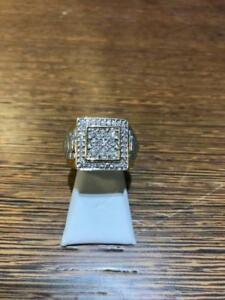 10kt Yellow Gold Mens Diamond Ring 1.00ct