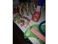 Parrot/Bird perches and toys
