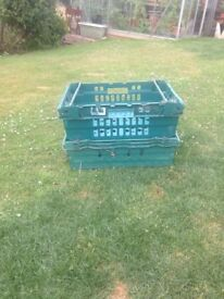 SOLD****FREE 6 stackable containers suitable for garage storage