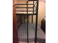 bunk bed with a single and double bed very good condition