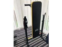 Everlast weight bench and weights.