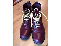 Women's Doc Martens ox blood/cherry red 1460 boots £40