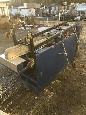 Stainless Sorting Powered Belt Conveyor 4 Wide Belt 110 X 42 X 47 3ph