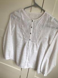 Zara girls white shirt