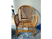 Boho rattan bamboo vintage armchair chair