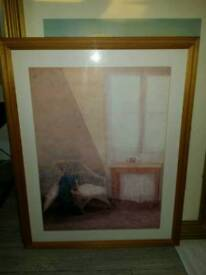 """""""The artist's room"""" print in wooden picture frame"""