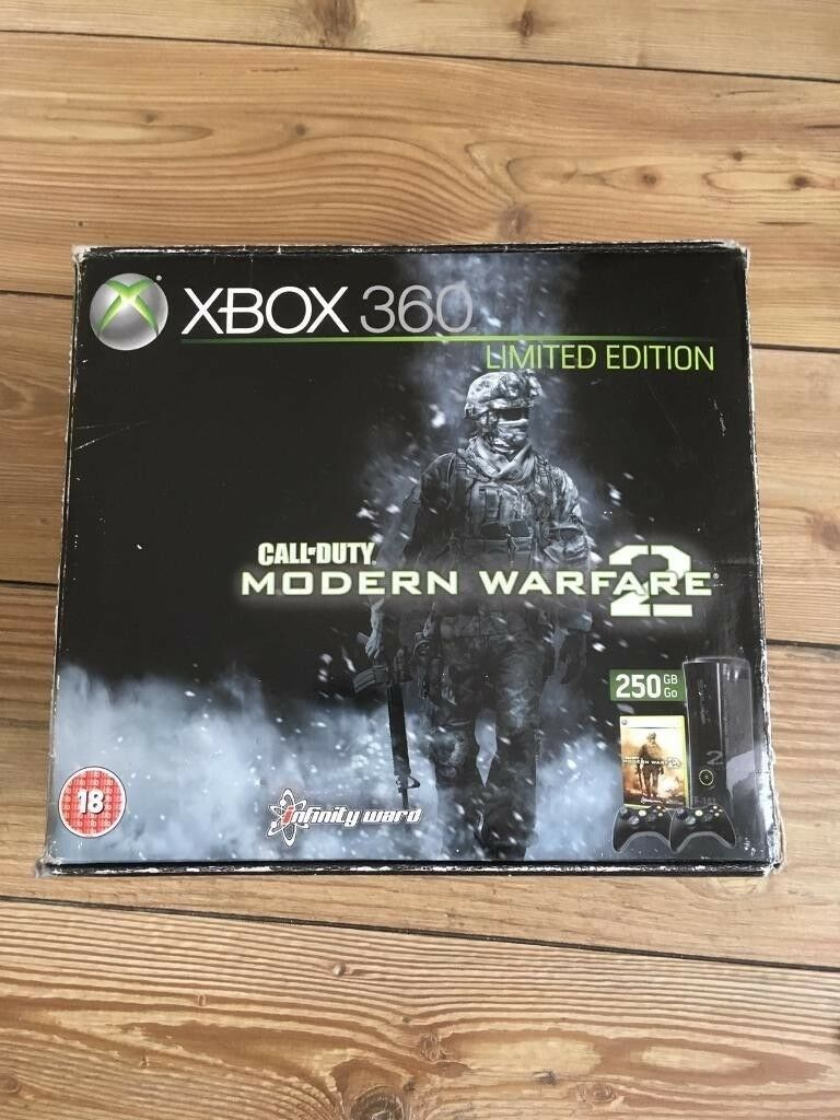 Xbox 360 console Elite 250GB Call of Duty Modern Warfare 2 Ltd Edt boxed