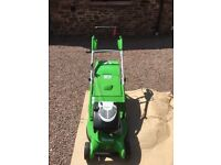 Self propelled petrol VIKING lawn mower with rear roller