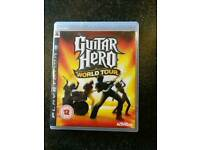 Playstation 3 guitar hero set