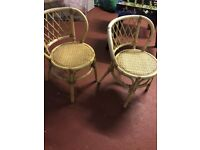 2 chairs and table garden / conservatory furniture