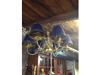 Two Brass chandeliers