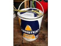 Unused 5Litre White Eggshell Paint -Armstead