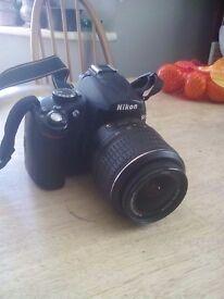 Nikon D5000 with Nikkor Lens AFS DX 18-55 mm