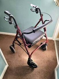 Disabled walking aid .