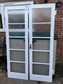 Solid wood glazed internal doors - FREE