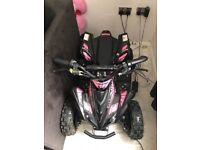 Kids pink 800W mini electric quad bike
