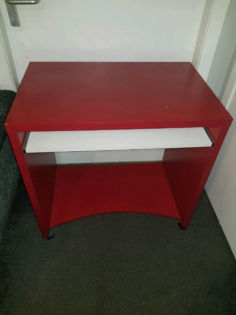 Computer desk & matching drawers