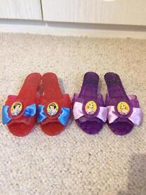 2 Pairs Of Disney Princess Shoes Snow White And Tangled