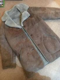 Ladies Sheepskin Coat Size 14