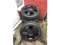 Audi A3 alloys with nearly new tyres
