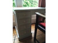 Small painted white pine desk