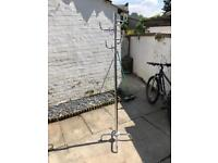 Chrome effect coat stand