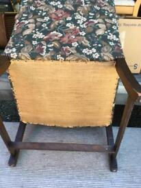 Victorian/Edwardian library chair