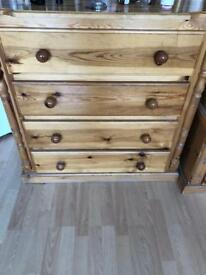 Chest draws solid pine