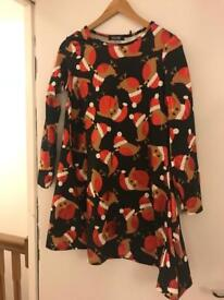 Robin pattern dress - perfect for Christmas!