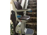 Stair lift straight provided by Age UK